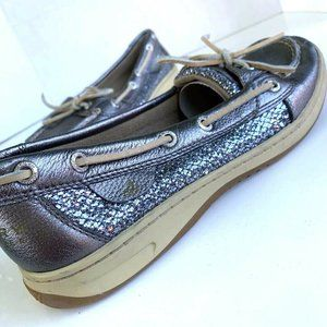 Sperry Top-Sider Womens Boat Shoes Metallic 9M